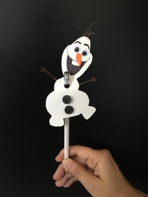 Craft for kids, Kids Craft, Pencil Topper, Snowman craft, easy craft, fun craft, school craft