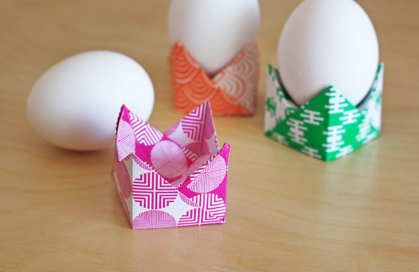 easy origami egg holders how about orange