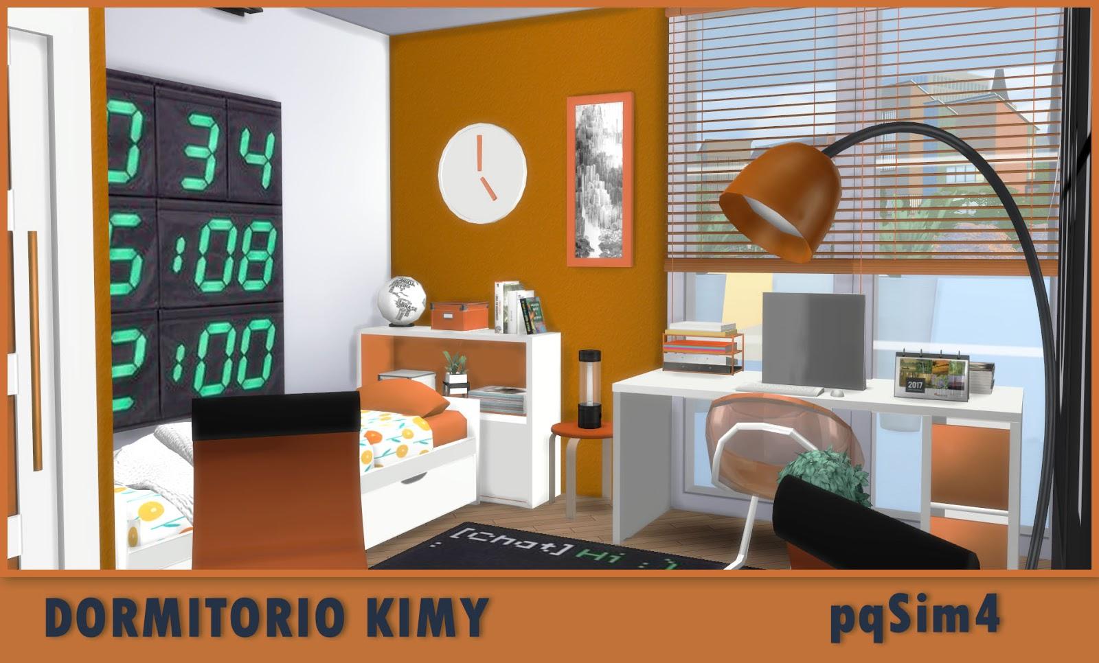 Dormitorio kimy sims 4 custom content for Dormitorio sims 4