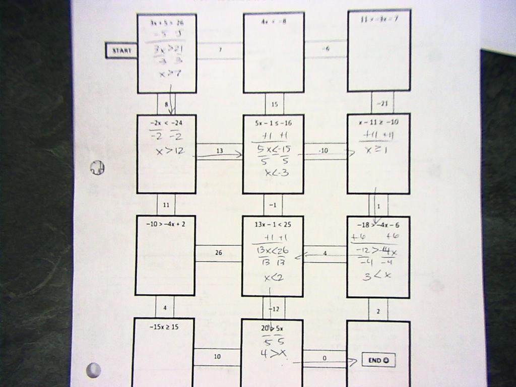 Two Step Equation Maze All Things Algebra - Tessshebaylo