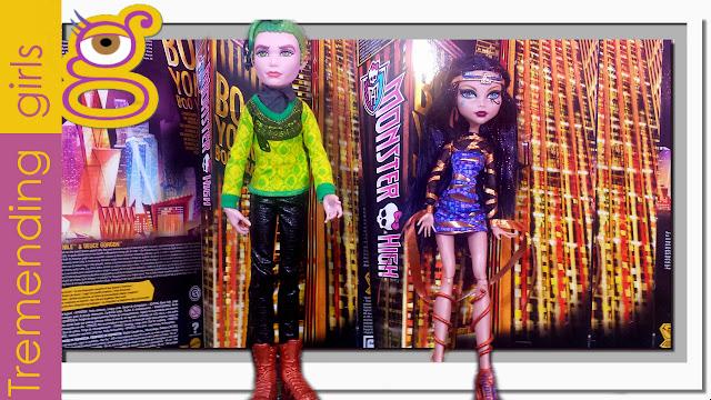 Muñeca Cleo de Nile Monster High Boo York y Deuce Gorgon