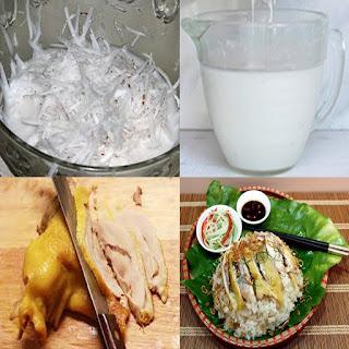 cách làm xôi gà hương nước cốt dừa hấp bằng tủ nấu cơm