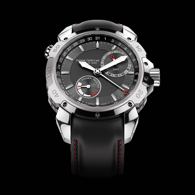 Pierre DeRoche TNT GMT Power Reserve 43 Mechanical Automatic Watch