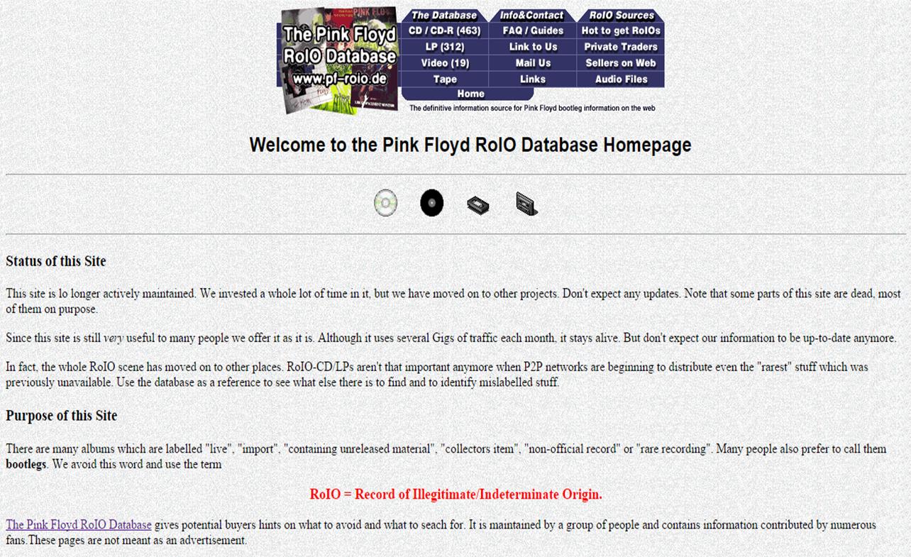 Pink Floyd Pará - Por Victor Sousa: Infor de Bootlegs e Roios