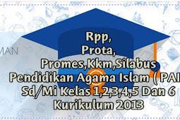 Download Rpp,Prota,Promes,Kkm,Silabus Pendidikan Agama Islam ( PAI ) Sd/Mi Kelas 1,2,3,4,5 Dan 6 Kurikulum 2013 Revisi 2017