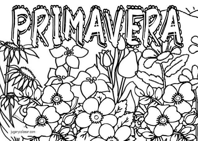 Dibujos Para Colorear De Flora: Colorear Flores De Primavera