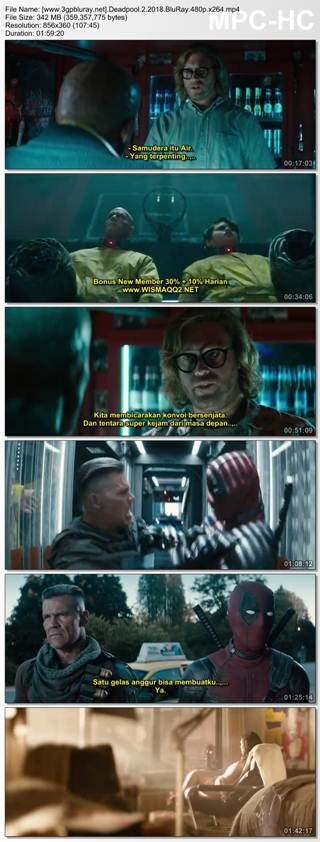 Screenshots Download Deadpool 2 (2018) BluRay 480p & 3GP Subtitle Indonesia
