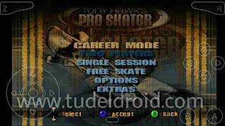 Menu Game Tony Hawk's Pro Skater