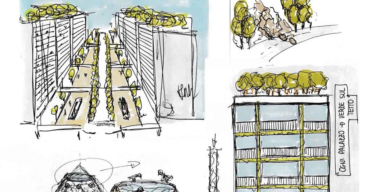 Progettare spazi verdi schizzi progettuali giardini for Progettare spazi verdi