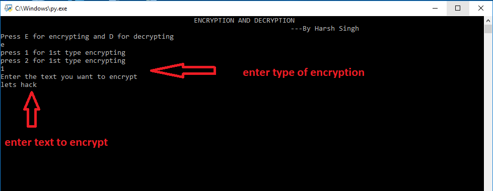 Project in Python | Encryption and Decryption