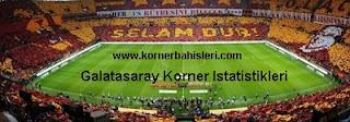 Galatasaray'ın kazandıgı köşe vuruşlarının maç başına sayıları. Ayrıca Sarı Kırmızı ekibin rakiplerine kazandırdıgı kornerlerin tüm istatistikleri burada.