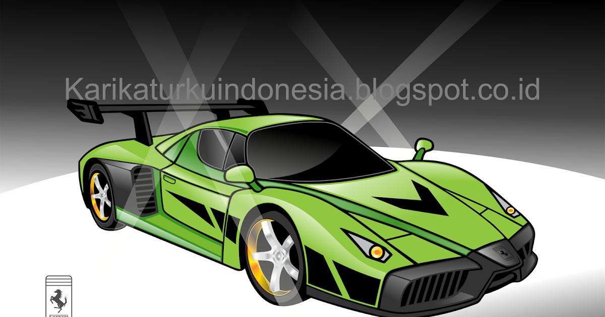 Gambar Karikaturku Indonesia Mobil Balap Ferrari Enzo Jpeg Png Gif