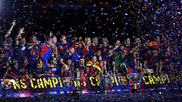 El Barça es el único equipo que ha ganado dos tripletes