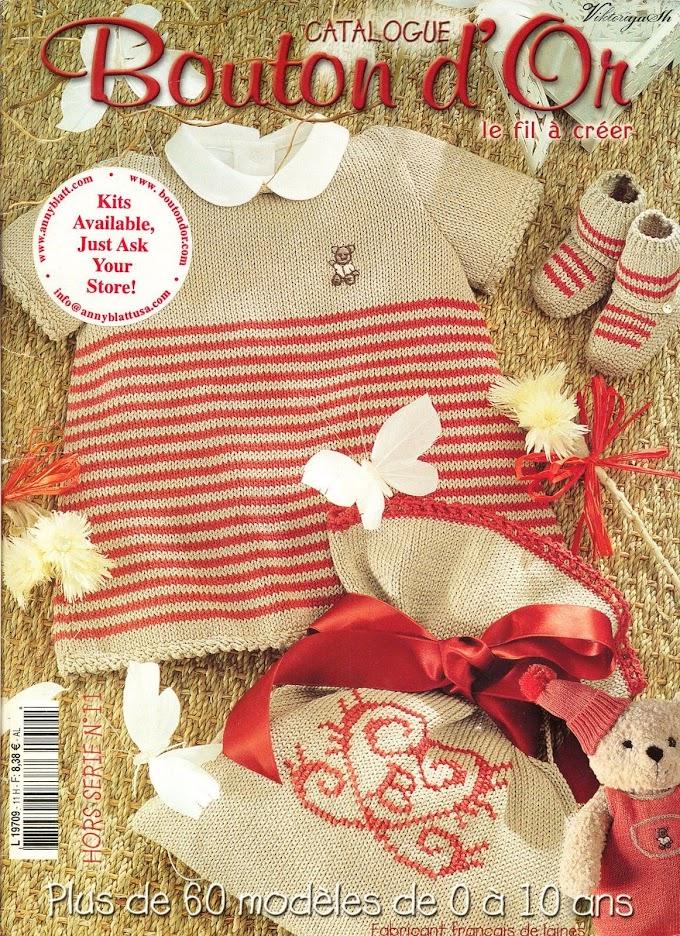 Bouton D'or Nº11 Tricô Bebê-Revista
