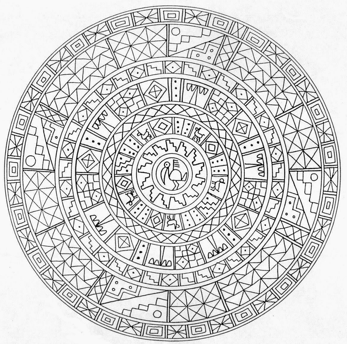 Printable Mandalas for AdultsDetailed Mandala Coloring Pages For Adults