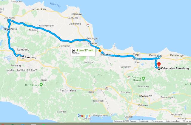 Rute Pemalang Bandung