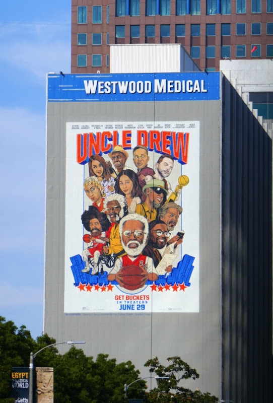 Giant Uncle Drew movie billboard