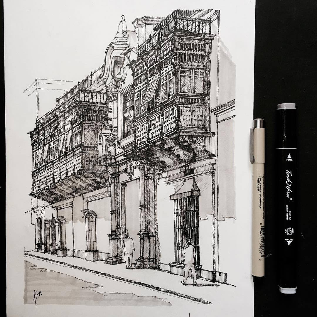 11-Perú-HAO-Sketches-Fineliners-Urban-Architectural-www-designstack-co