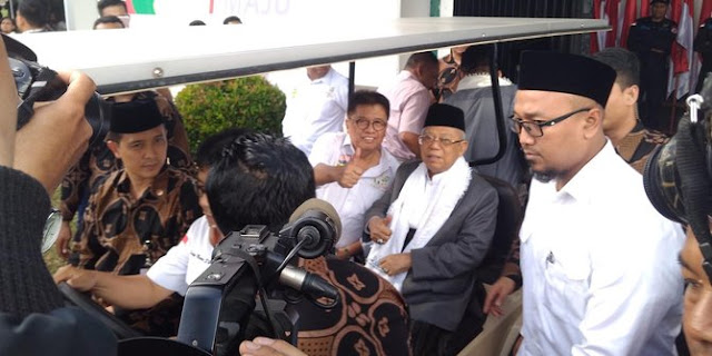 Ma'ruf Amin Tunggu Bocoran Pertanyaan Debat dari KPU