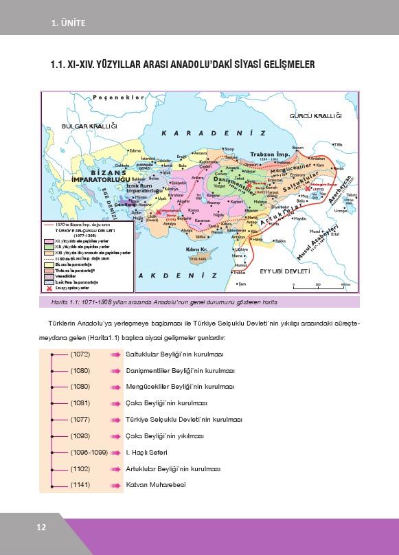 10. Sınıf Tarih Ders Kitabı Cevapları İlke Yayınları Sayfa 12