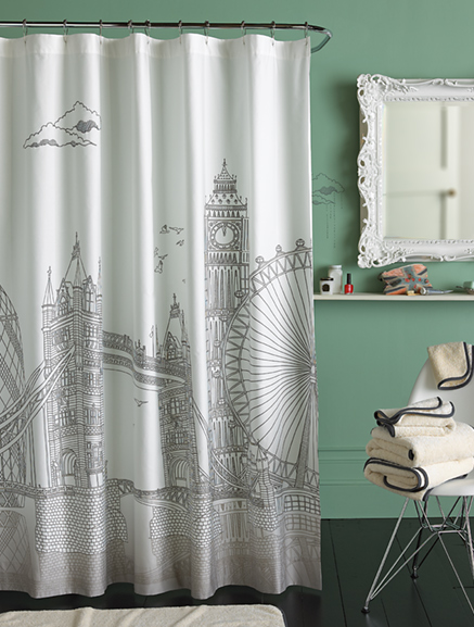 I Also Liked This London Shower Curtain But Again Too Expensive For Me