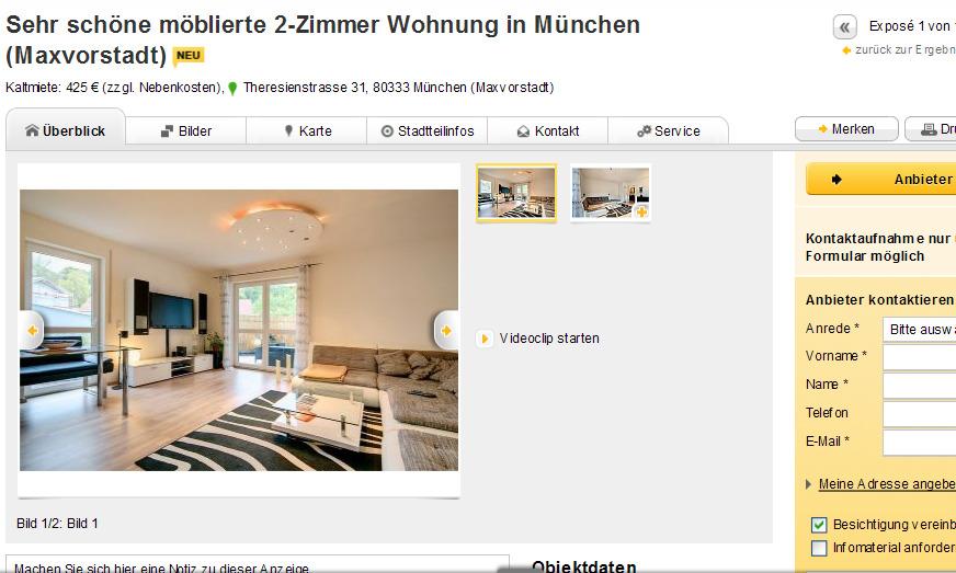 sch ne m blierte 2 zimmer obere mentergasse 5 90443 n rnberg st. Black Bedroom Furniture Sets. Home Design Ideas