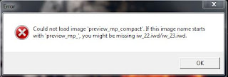 "Could not load image ""preview_mp_compact"".If this image name starts with 'preview_mp_',you might be missing iw_22.iwd/iwd_23.iwd."