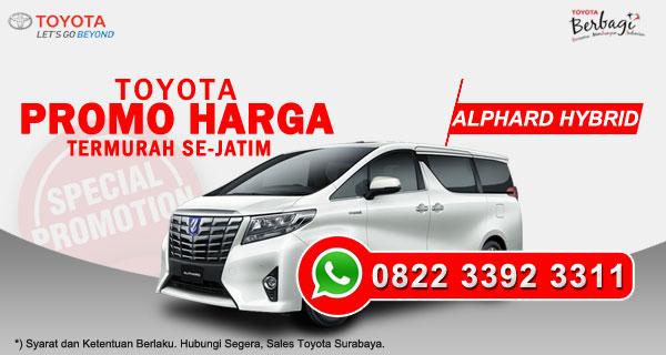 Promo Harga Toyota Alphard Hybrid Surabaya