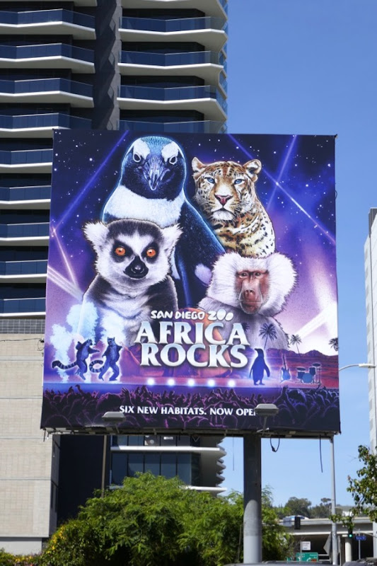 San Diego Zoo Africa Rocks billboard