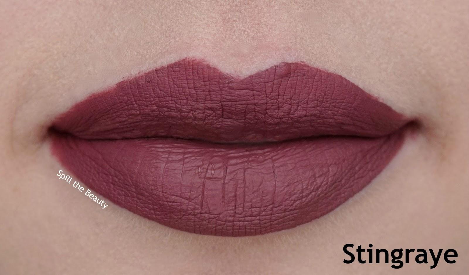 colourpop ultra matte lip review swatches 5 stingraye - lips