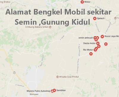 Alamat Variasi Mobil Semin Gunung Kidul
