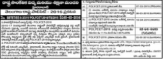 Telangana Polytechnic Notification 2016