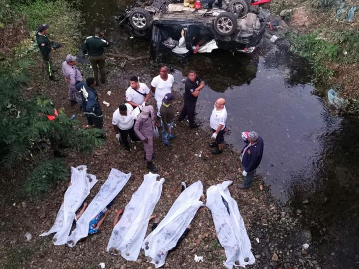 Fiscal confirma muertos accidente de Monte Plata pertenecían a banda de asaltantes
