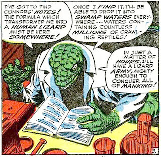 Amazing Spider-Man #45, John Romita,  the Lizard reads through the notes of Curt Connors