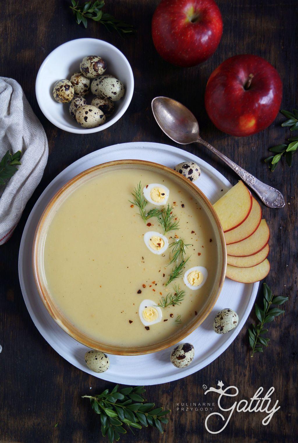Jabłkowa zupa krem z chrzanem