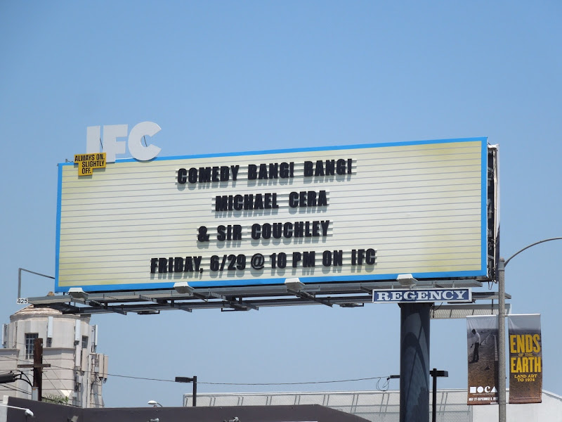IFC Comedy Bang Bang Michael Cera billboard