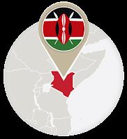 Kenyan flag and map