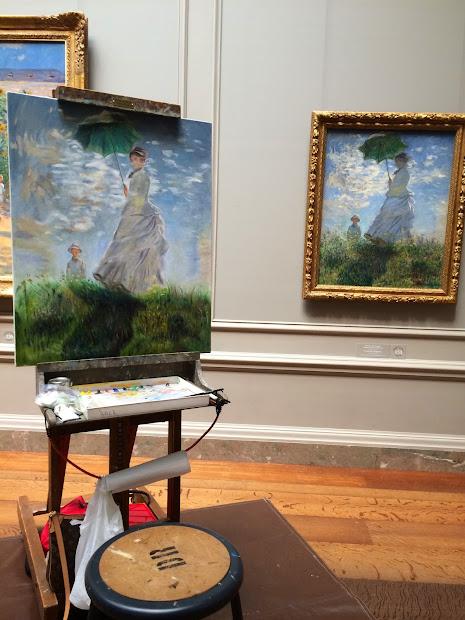 Maria Bennett Hock Women With Parasol Claude Monet
