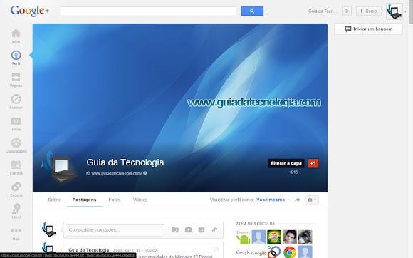 capa gigante no google+