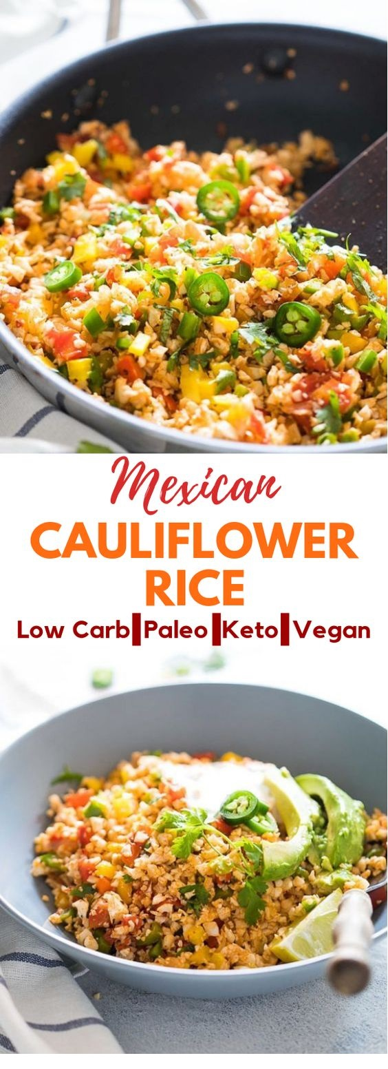 Homeketolow Carb Mexican Cauliflower Rice