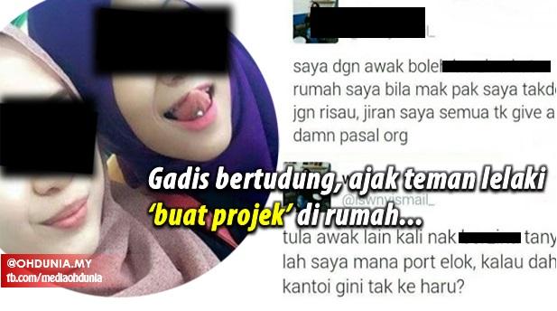 Gadis Bertudung Ajak Teman Lelaki Berzina Di Rumah