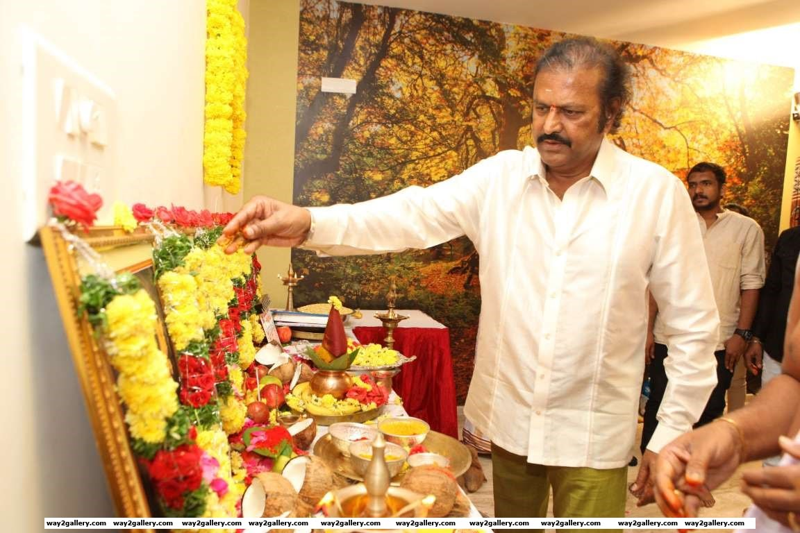 Mohan Babu was the chief guest at the launch of son Vishnu Manchus Telugu film Luckkunnodu