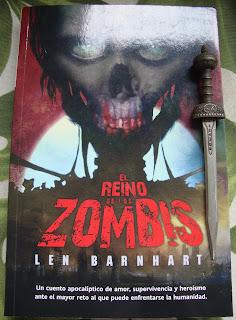 Portada del libro El reino de los zombis, de Len Barnhart
