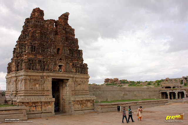 Main east gopura of Vithala temple, Hampi