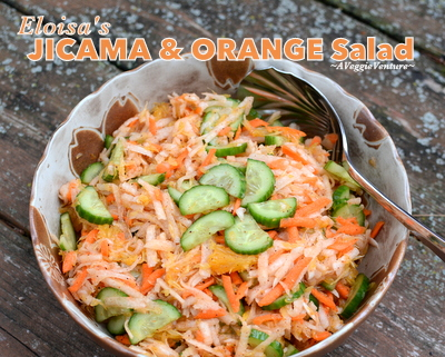 Eloisa's Jicama Salad, another low-carb salad ♥ AVeggieVenture.com. Very Weight Watchers Friendly. Gluten Free. Whole30 Friendly. Cool and Refreshing.