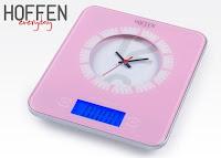 Waga kuchenna z zegarem Hoffen everyday z Biedronki różowa