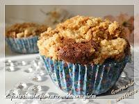 Cupcake chocolat poire en crumble sans gluten