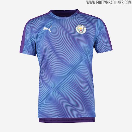 promo code d3f1c 492f8 Crazy Manchester City 19-20 Pre-Match Shirt & Anthem ...