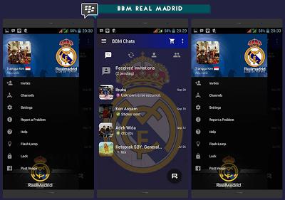 BBM MOD Real Madrid versi Terbaru versi 3.0.0.18 dan Versi Lama