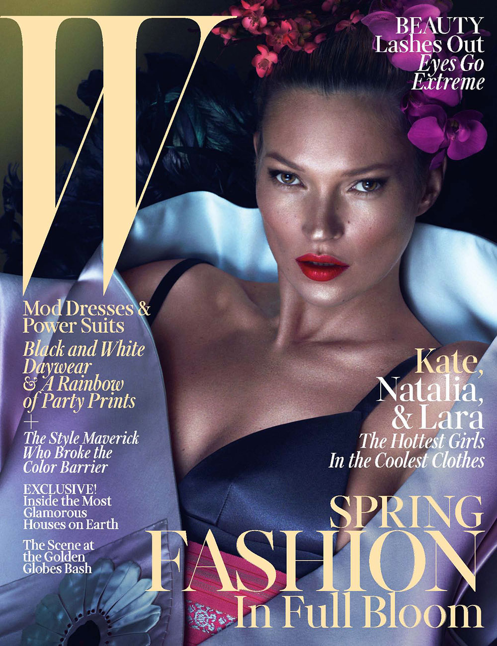 Smile: W Magazine March 2013: Kate Moss, Natalia Vodianova